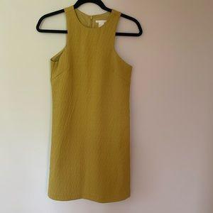 Mustard H&M dress with zipper